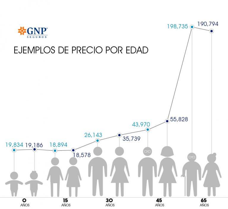 costo de seguro medico GNP